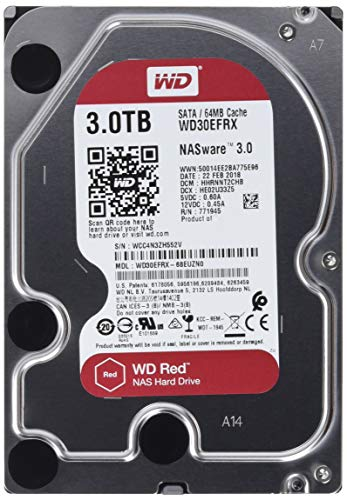 Western Digital� Red 3TB Internal Hard Drive For NAS, 64MB Cache, SATA/600, WD30EFRX